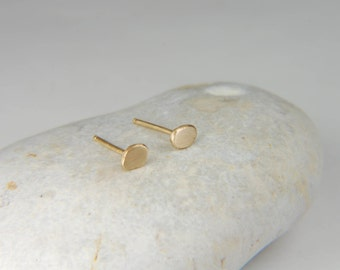 Gold Nugget Earrings Tiny Gold Studs Minimalist Earrings 14K Gold Stud Earrings Simple Gold Earrings Gold Nugget Jewelry