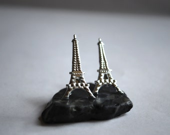 Eiffel Tower Studs -- Je T'aime Paris, Eiffel Tower Earrings, You Choose the Color!