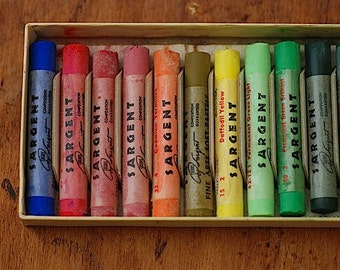 Sargent Fine Art Soft Pastels Art Crayons, Mid Century Modern, Non Toxic Crayons, DIY Craft Materials, Back To School, Crayons,