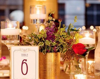 Set of 25- Wedding round shaped table number holders