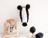 Faux Badger Knitting Kit - Make Your Own Forest Friend - Taxidermy Trophy Head Pattern
