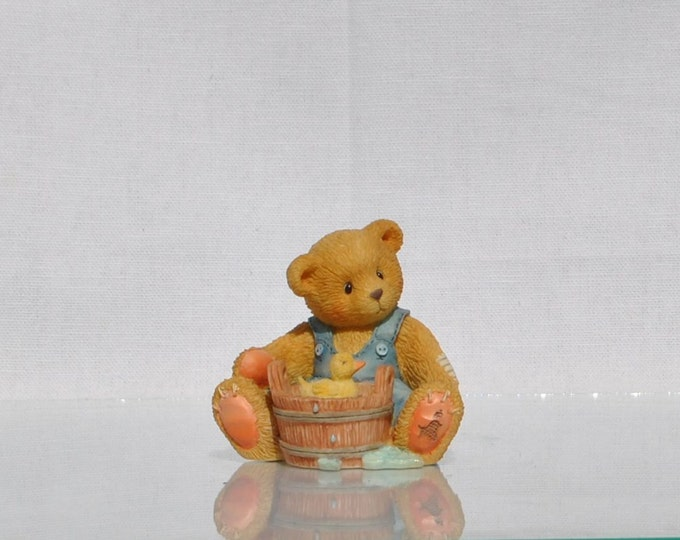 "Vintage Cherished Teddies Collectible ""Robert"" 1995, Enecso, Priscilla Hillman, Teddy Bear Figurine, Collectible Figurine, Bear Figurine"