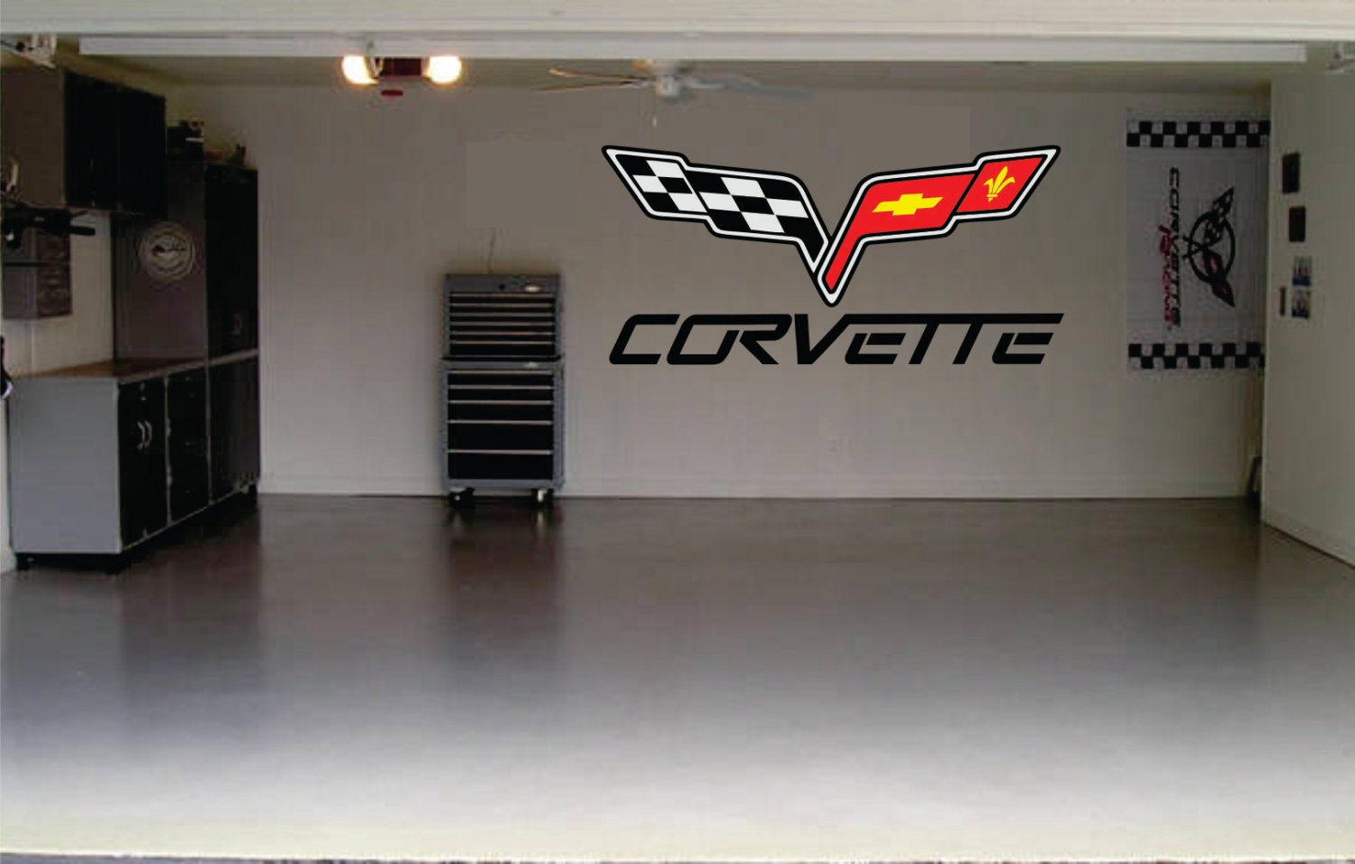 Corvette Car Decal Garage Door Or Wall Decal By SignJunkies
