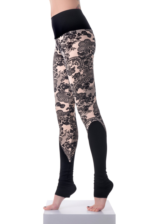 Women Printed Leggings Yoga Leggings Leg Warmers Festival