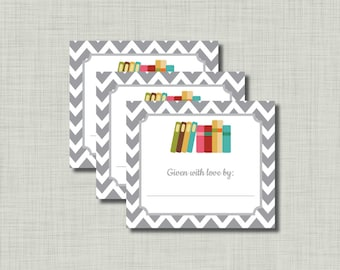 Baby Bookplate build a library shower book plate--Instant Download