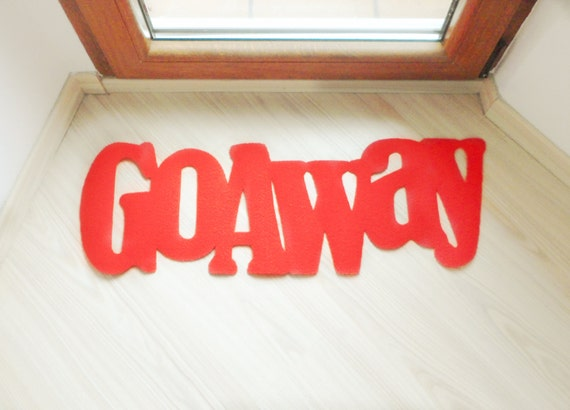 Go Away Fun Floor Mat Home Decor Customizable
