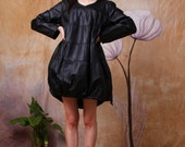 synthetic leather dress tutu dress lolita dress black dress spring dress autumn dress