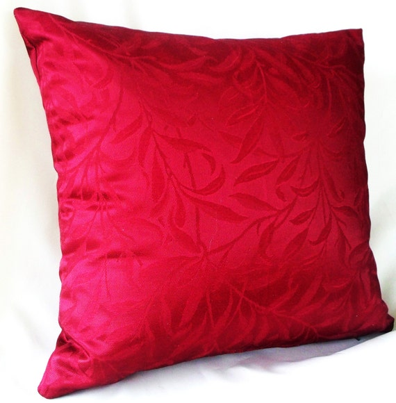 Burgundy Floral Throw Pillows : Red pillow cover floral pillow burgundy cushion red pillow