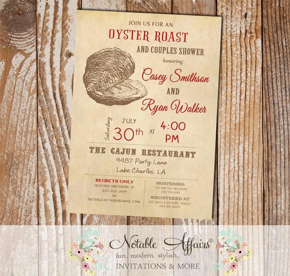Oyster Roast Low Country Boil Seafood Couples Shower