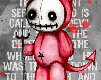 Devil Doll Fine Art Print