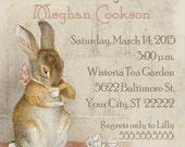 Bunny Tea Baby Shower Invitation