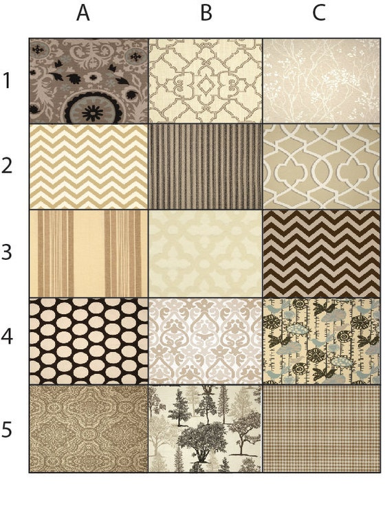 Items Similar To You Choose Kitchen Curtains Brown And Tan Window Curtains Window Valance