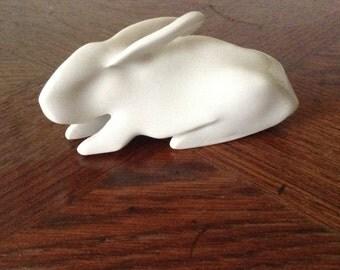 White  porcelain bunny