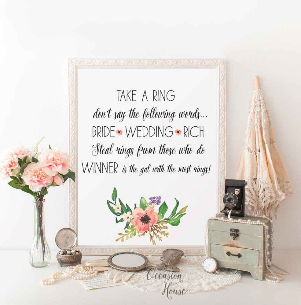Agile image pertaining to printable bridal shower signs