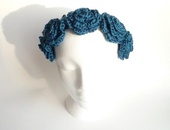 Crochet Flower Crown Tutorial : Flower Crown CROCHET PATTERN Flower Headband Flower by ...