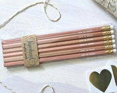 Keep in Touch Natural Pencils Set of 6, Going Away Present, Foil Stamped Pencils, Wedding Favors, Engraved Pencils, Stocking Stuffers