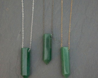 Stone of Propsperity // Aventurine  // Crystal Necklace // Aventurine Pendant // Aventurine Necklace  // Stone of Wealth // Gemstone Pendant