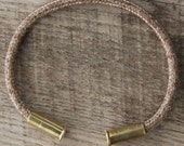 BRZN Recycled .22lr Bullet Casing Tweed Gold 550 Paracord Bracelet