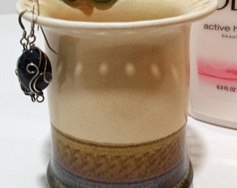 Earring Organizer Cosmetic / Brush Holder Jewelry Organizer Eyeglasses Holder - Handmade Ceramic - Unique Gift Mother's Day Gift Home Decor