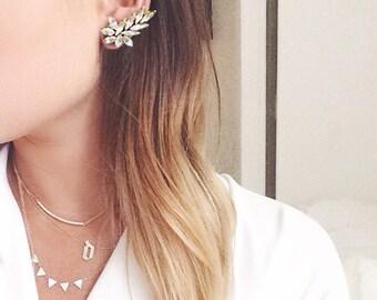 Swarovski Ear Cuff Style Earrings - Pair