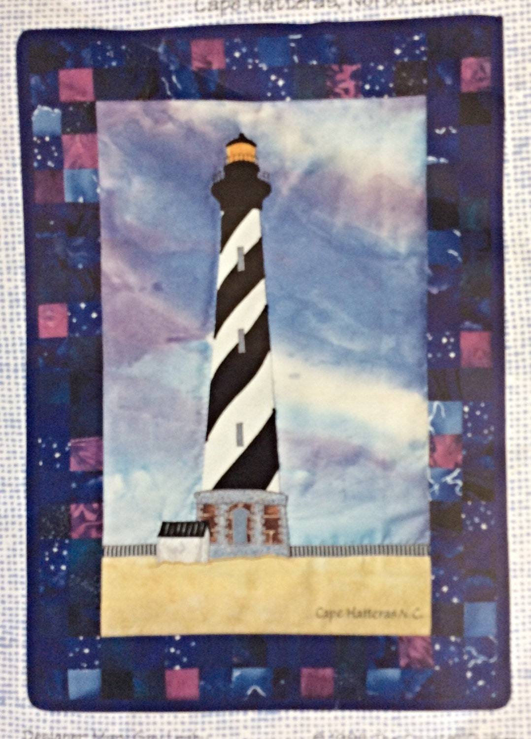 Quilting Lighthouse Patterns : Lighthouse Quilt Block Pattern Cape Hatteras Lighthouse
