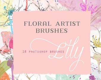 Flower Photoshop Brushes - Lily