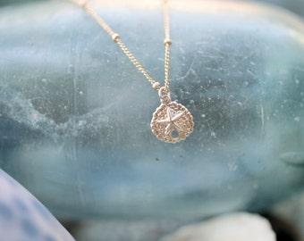 Short Gold-filled Sand Dollar Necklace