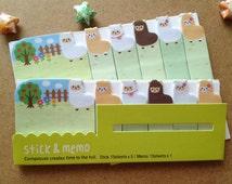 Alpaca Sticky note Alpaca memo Cute farm animal sticky flag Alpaca paper stick mark kawaii pet index sticker fat sheep kawaii memo pad