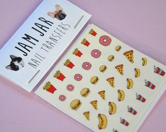 SALE! 36 Cute Fast Food Nail Transfers