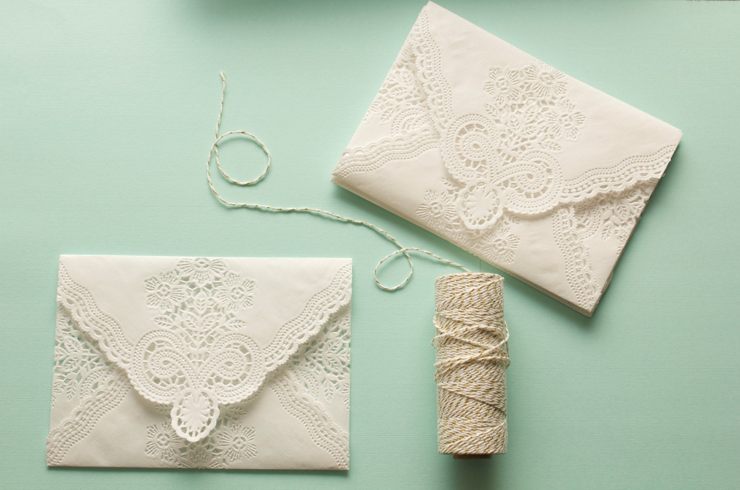 Vintage Lace Envelopes Romantic Paper Lace Doily Wedding Invitation Envelopes Set Of 10