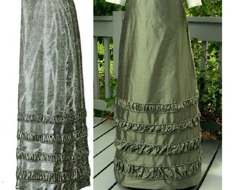 Digital Antique Sewing Pattern Multi-Size ~ Lovely 1912 Edwardian Taffeta Skirt - in PDF format to Print at Home - Sizes SM to XL included!