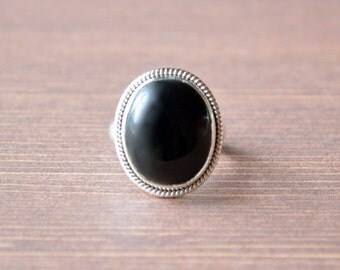The Little Black Onyx Ring