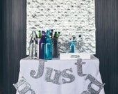 Gold Sparkle JUST MARRIED Banner