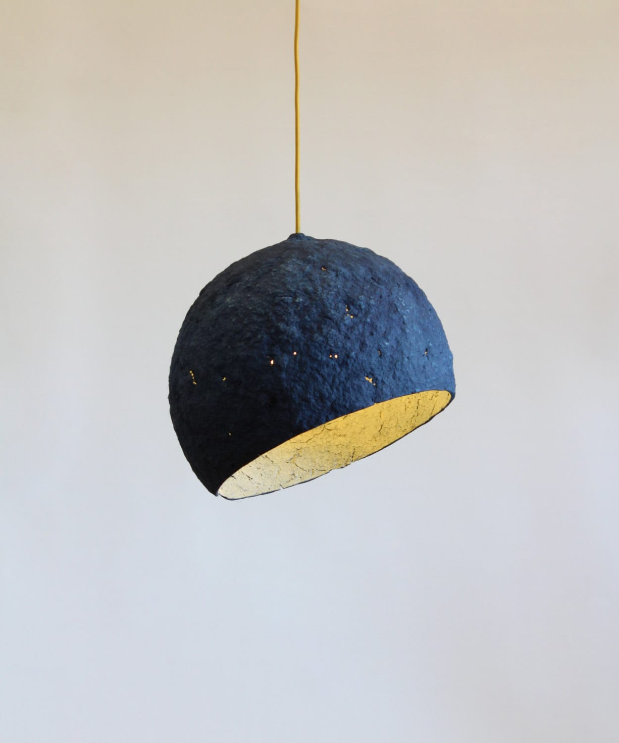 Paper mache lamp pluto lamp pendant light hanging lamp for How to make paper mache lamps