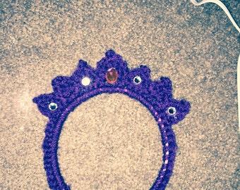 Handmade crochet tiara headband