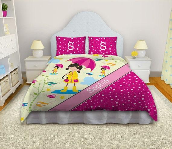 Items Similar To Pink Duvet Cover Kids Duvet Covers