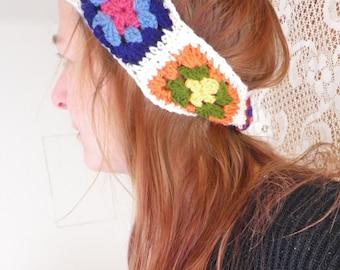 handmade crocheted hippie boho headband