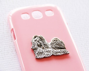 Shihtzu Pink Plastic Silver Plated iPhone 6s Plus  Smartphone Cover iPhone 6 iPhone 7 Case iPhone 7 Plus Case
