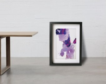 TWILIGHT SPARKLE poster - Inspired by the My Little Pony Friendship is Magic series. Watercolor Giclee Print