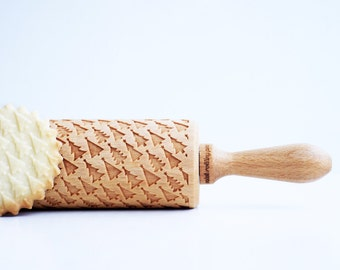 CHRISTMAS TREE *** Embossing rolling pin, laser engraved rolling pin *** Birthday gift ***