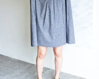 chambray blue linen babydoll tent dress