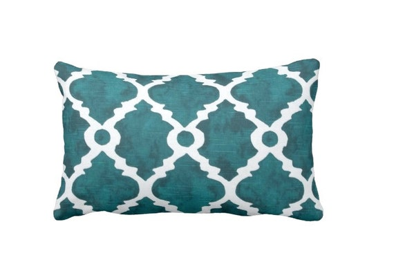 Throw Pillow Covers Teal : Teal Throw Pillow Cover Teal Pillow Cover Moroccan Pillow