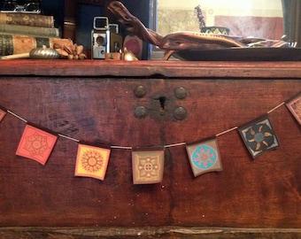 Miniature Prayer Flags: 7 Chakras