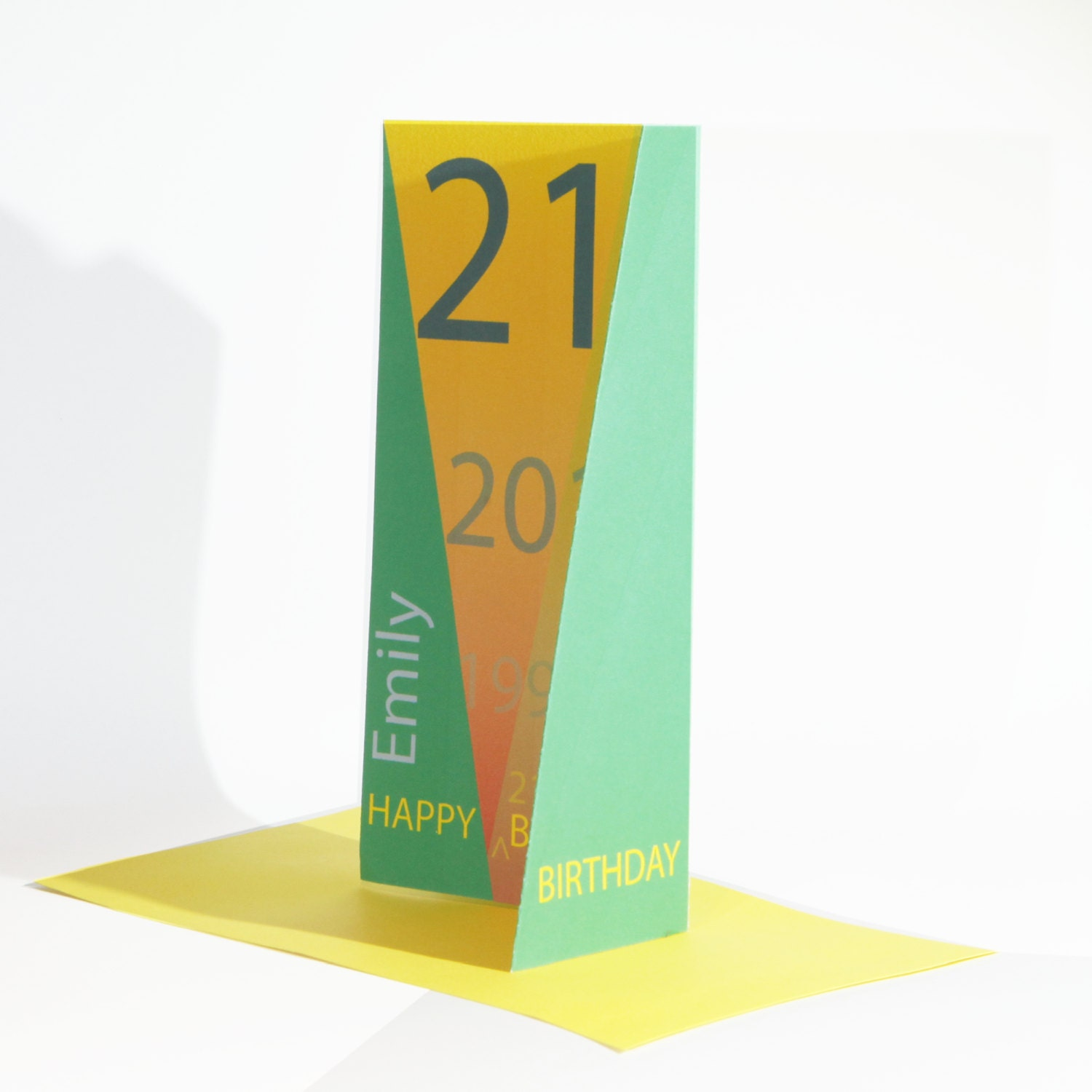 Unique 21st Happy Birthday Card Edit NAME For Boy Or Girl Son