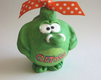 Gator Christmas ornament | Team mascot ornament | personalized ornament | Florida Gator ornament | florida ornament | sports fan ornament