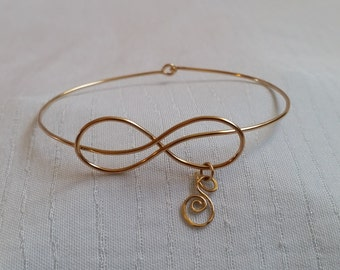 Infinity Bracelet With Initial, Infinity Bracelet, Infinite Initial, Infinity Bracelets, Monogram Bracelet, Initial Charm Bracelet, Infinity