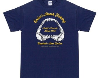Quints Shark Fishing Horror T Shirt