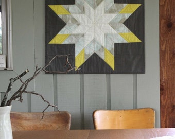 Lovely and Enough II : Modern Lone Star Wall Quilt