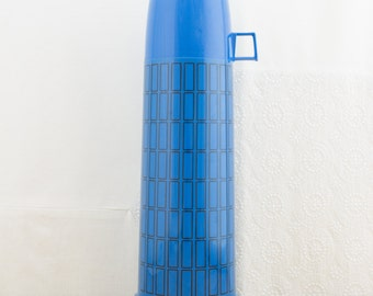 Vintage Blue Thermos w/ Glass Interior