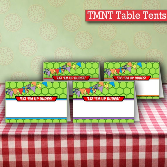 INSTANT DOWNLOAD Blank Ninja Turtles Birthday Food Table Tents Cards | Turtle Birthday Party Printable Food Tents  sc 1 st  Etsy & INSTANT DOWNLOAD Blank Ninja Turtles Birthday Food Table Tents